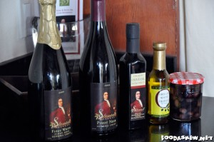 The wines & olive oils we tasted at Saltonstall Estate