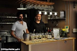 Kaveh Azari & Nico ready to pour Luma Blanc